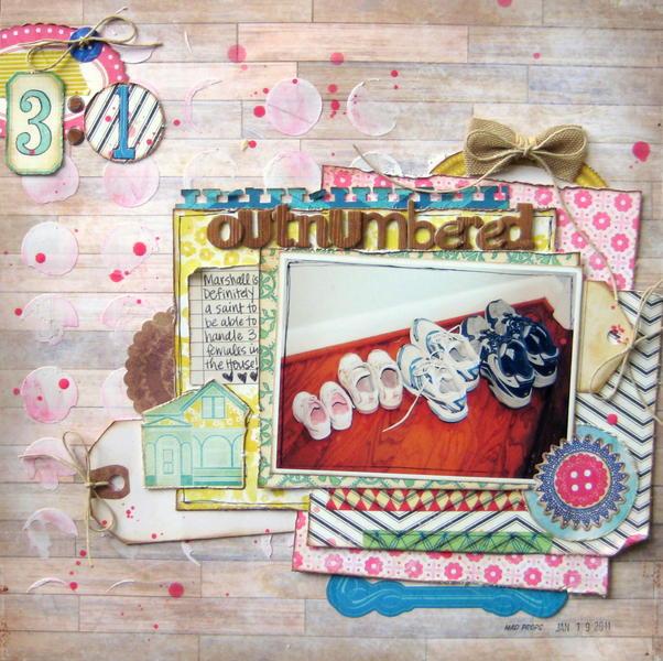 Outnumbered - My Creative Scrapbook April Main Kit