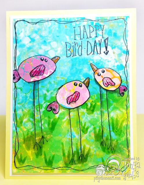 Whimsical Birds - Card