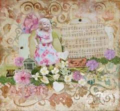 Addie - Mixed Media Layout