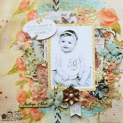 Austyn Harmony Mixed Media Layout