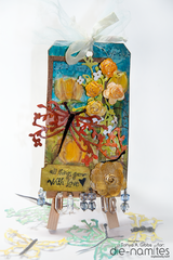 Mixed Media tag - All things grow with love.