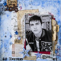 Class of 2015 Mixed Media Layout