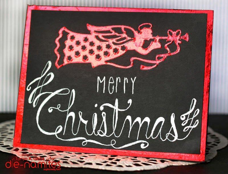 Foil Christmas Card Chalkboard
