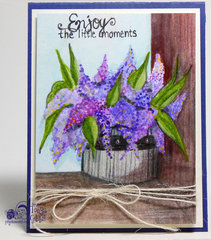 Watercolor Card - Lavender