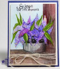 Watercolor Card - Lavender