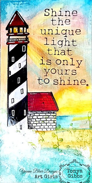 Shine The Light Journal Page