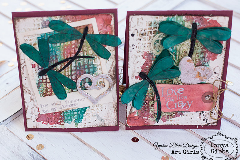 Mixed Media Cards - Love You Like Crazy