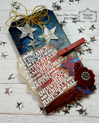 Mixed Media ATC Americana Tag