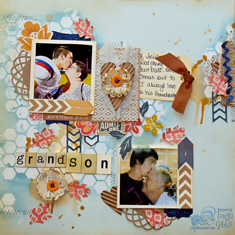 Persimmon - Mixed Media Layout Grandson