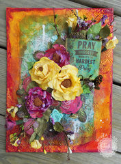Pray When It is the Hardest to Pray  Mixed Media Canvas
