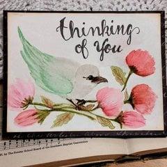 Prima Bird Distress Watercolor Card