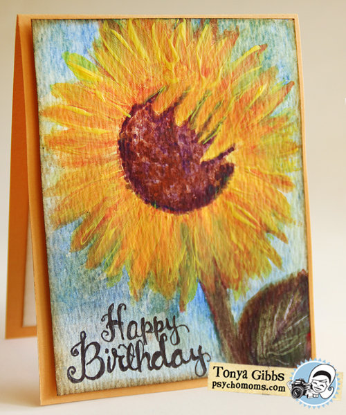 Sunflower Watercolor Card
