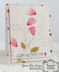 Mother's Day Card - Swirly Vine