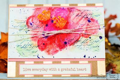 Watercolor Card - Grateful Heart