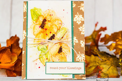Count Your Blessings Watercolor Card