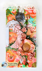 In The Garden - Mixed Media Tag