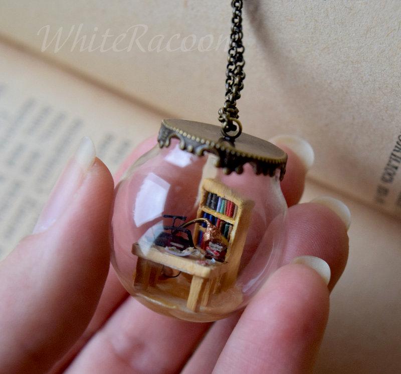 Book restoration process in a tiny jar