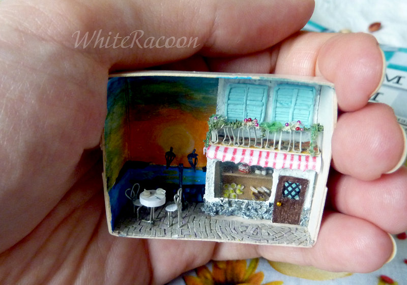Tiny cafe in a matchbox