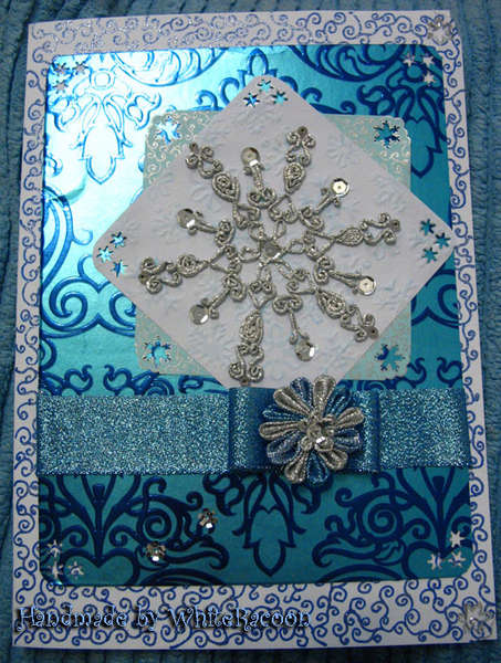 Foil snowflake card