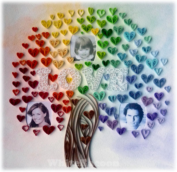 Quilled love tree