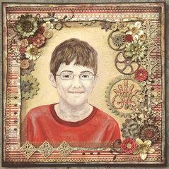 Evan's New Glasses Portrait