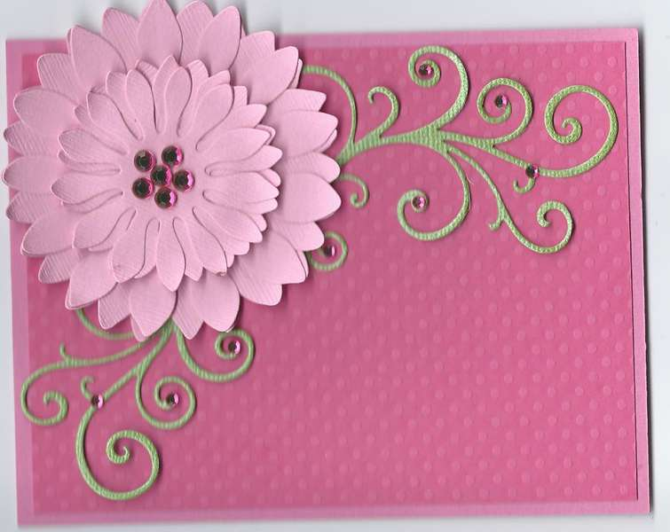 3 Shades of Pink Note Card