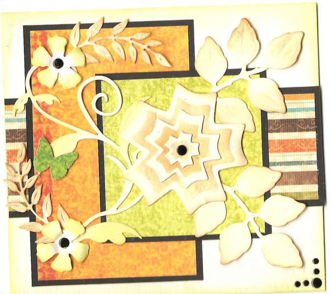 Card Made From Scraps - 2