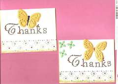 Jeweled Thank You Cards