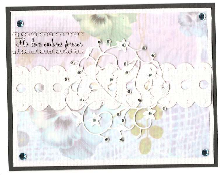 Vellum Bling Note Card