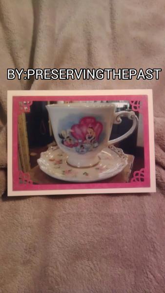 Photo Card -- Disney Tea Cup