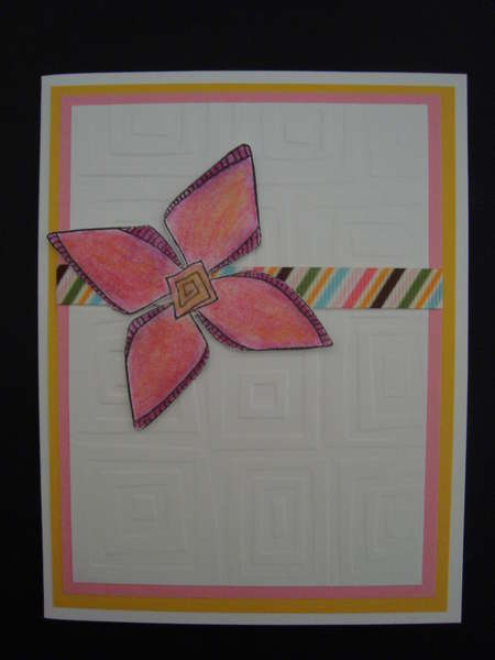 Embossed Card -- Flower