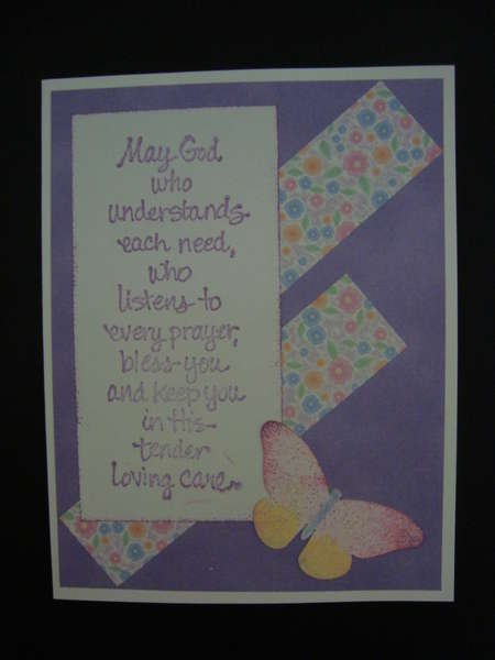Prayer Card -- Floral
