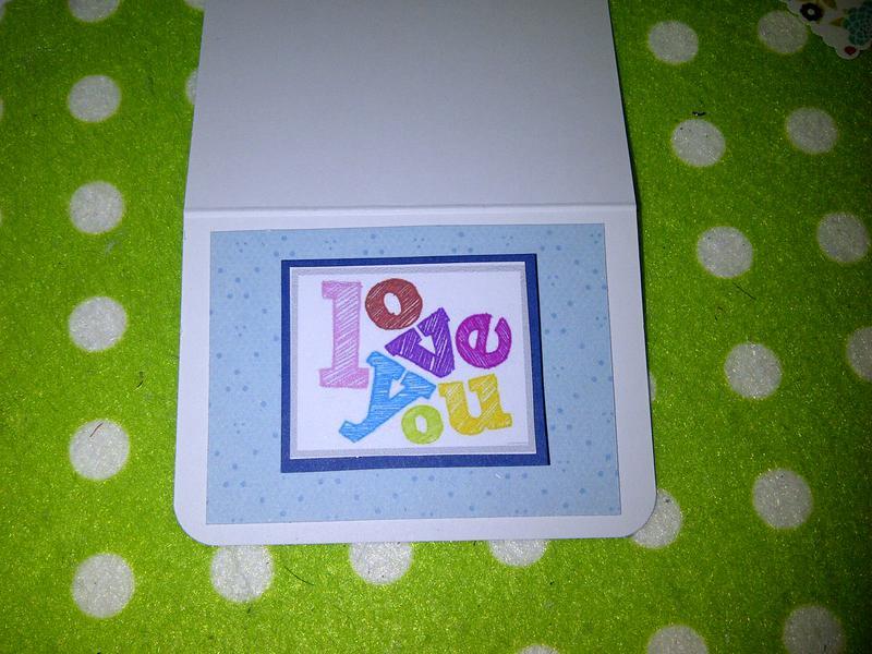 love you mini card