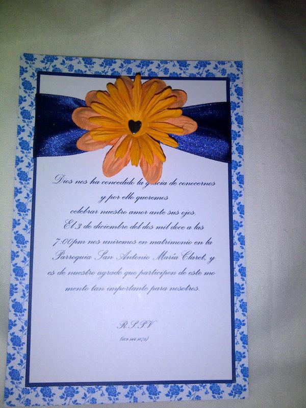 Wedding orange card