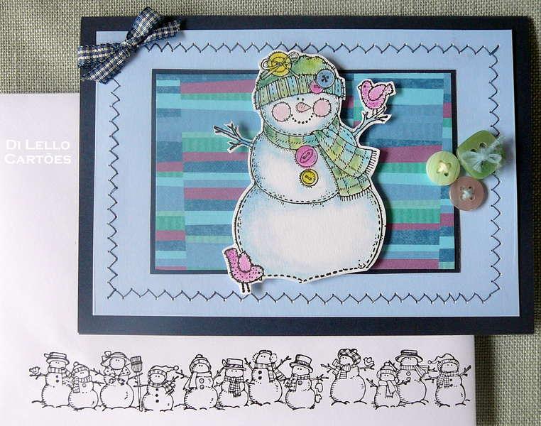 Buttoned Snowman