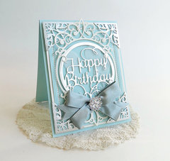 Happy Birthday in Tiffany Blue by Teresa Horner