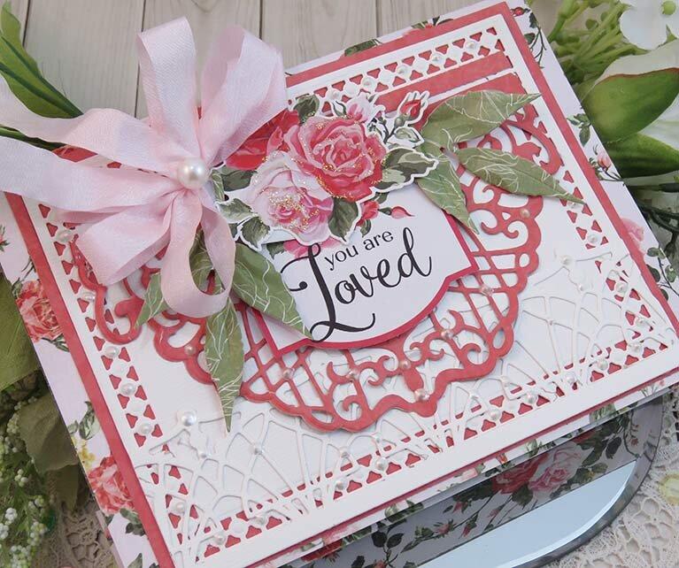 You are Loved Valentine envelope mini book by Teresa Horner