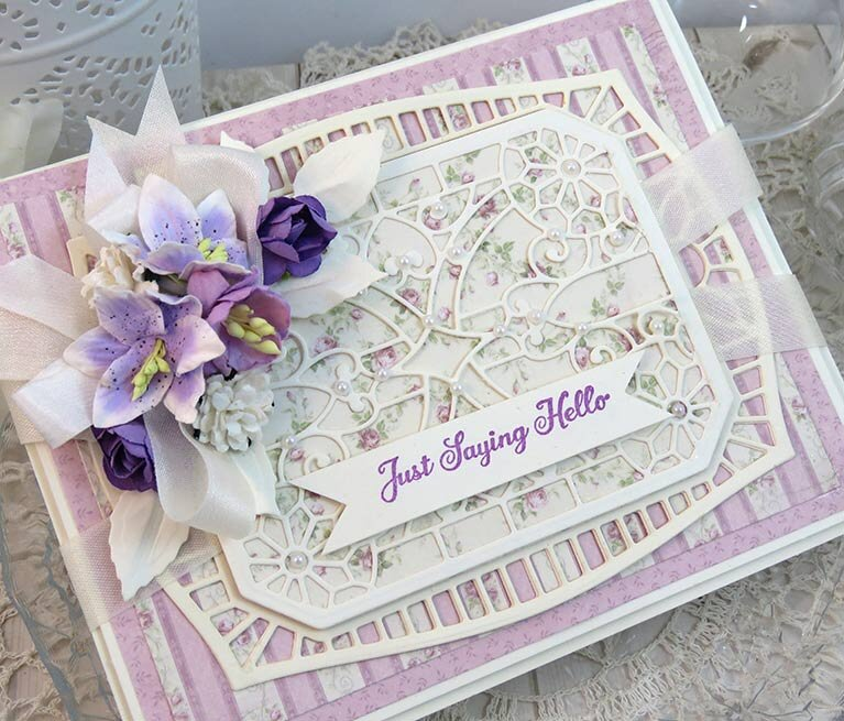 Just Saying Hello Card by Teresa Horner