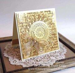 Golden Anniversary Wedding Card by Teresa Horner