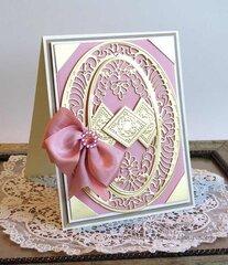 Vintage Treasures Bella Luce Oval Card by Teresa Horner