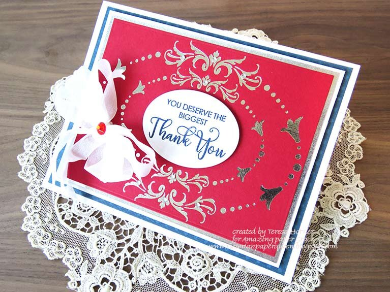 You deserve the biggest Thank you card by Teresa Horner