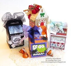 Fun little Holiday Mini boxes by Teresa Horner