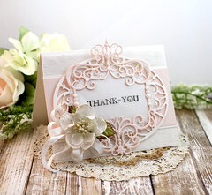 Victorian Thank you card by Teresa Horner