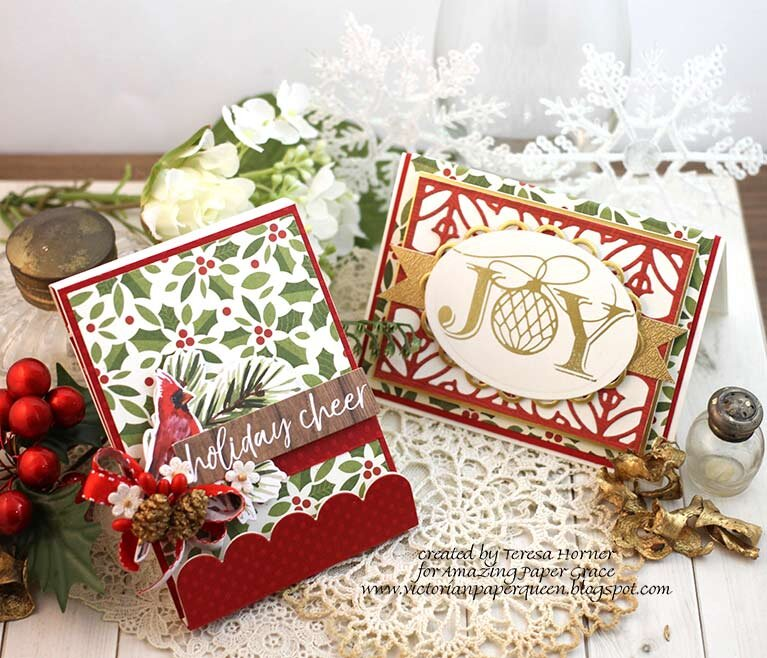 Joy Card and matching Notepad by Teresa Horner