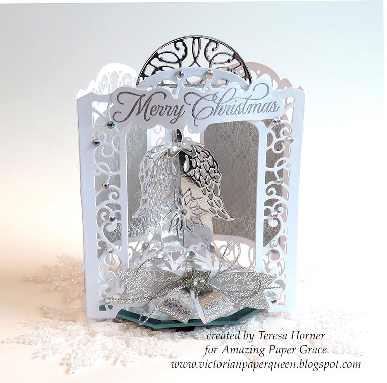 Merry Christmas 3D Angel Card by Teresa Horner