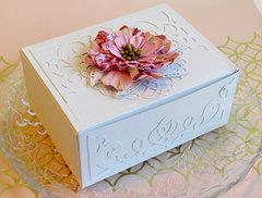 Vintage flowered gift box by Teresa Horner