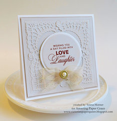 Love and Laughter Card by Teresa Horner
