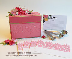 Vintage Recipe Box, dividers and cards by Teresa Horner