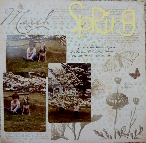 Scrap Your STory Challenges -Challenge #6 Springtime