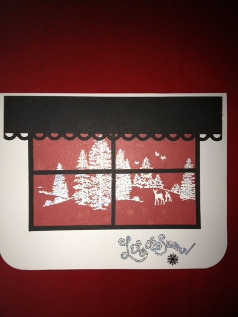 2012 Window Let it Snow card
